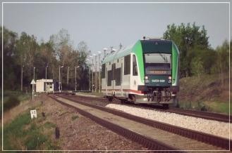 Pociąg relacji Siedlce - Hajnówka w Patkowie