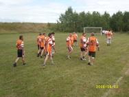 Oldboje Patków tuż przed meczem w 2008 r.