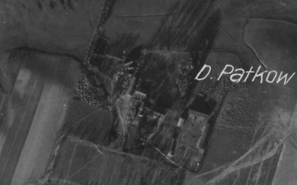 Dwór Patków Józefów - zdjęcie lotnicze, lata 40-te, XX w.
