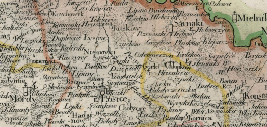 Colberg Mappa jeneralna województwa podlaskiego 1827