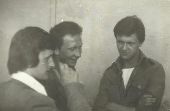 Patków 1975 - od lewej: Stanisław Gmitruk, Andrzej Gil, Marek Kowalczyk.
