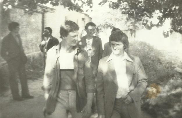 Patków 1975 - od lewej: Marek Kowalczyk, Andrzej Gil, Stanisław Gmitruk.