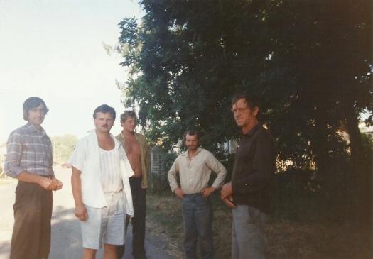 Patków 1995 - od lewej: Tadeusz Boruta, Stanisław Gmitruk, Grzegorz Rak, Mieczysław Derkacz, Mieczysław Dmitruk