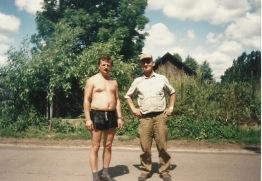 Patków 1995 - od lewej: Stanisław Gmitruk ze Stanisławem Iwaniukiem