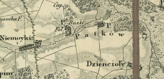 Mapa kwatermistrzostwa ±1850
