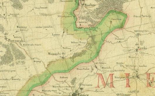 mapa woj. podlaskiego 1975 r.