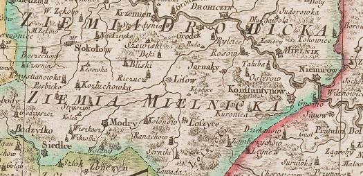 Rizzi Zannoni, Carte de la Pologne, 1772