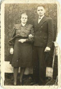 Zdjęcie z roku 1947 - Irena i Henryk Gmitruk