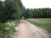 Droga przy boisku w kierunku Prus