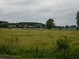 Widok na Myszkowice od strony patkowskich łąk
