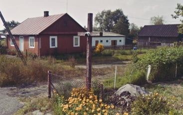 Krzyż we wsi na posesji Pana Mitrofaniuka