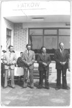 Otwarcie przystanku w Patkowie 7 maja 1977 r. Drugi od lewej Tadeusz Rak.